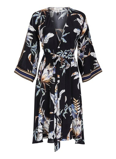 Anvelop Kapama Desenli Elbise-Ipekyol